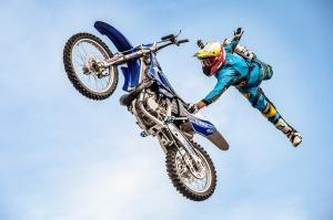 Jorge Negretti praticando os saltos / Foto: Arquivo pessoal