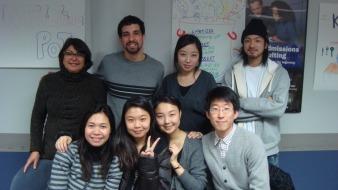 Vera e seus colegas de classe  durante o intercâmbio nos EUA / Foto: Arquivo Pessoal