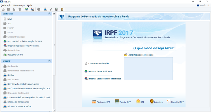 tela 1 download irpf
