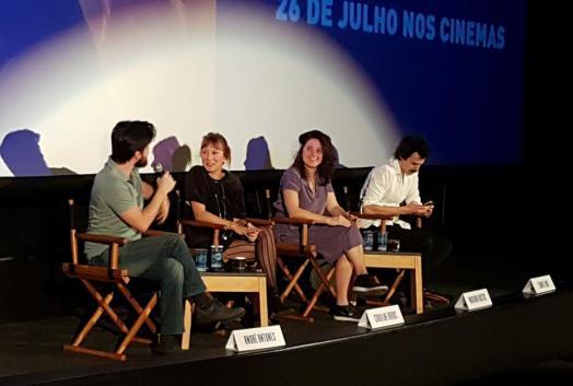 """Coletiva de Imprensa com os atores e diretores """"Alguma Coisa Assim"""""""